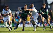 17 November 2019; Jack Carty of Connacht is tackled by Caleb Timu of Montpellier during the Heineken Champions Cup Pool 5 Round 1 match between Connacht and Montpellier at The Sportsground in Galway. Photo by Ramsey Cardy/Sportsfile