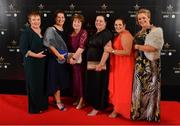 16 November 2019; IN attendance at the TG4 All-Ireland Ladies Football All Stars Awards banquet, in association with Lidl, at the Citywest Hotel in Saggart, Dublin, are, from left, Kathleen Kane, Martina Dillon, Mary Connolly, Maggie Skelton, Antoinette McCusker and Eileen Jones. Photo by Brendan Moran/Sportsfile