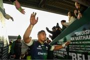 17 November 2019; Bundee Aki of Connacht following the Heineken Champions Cup Pool 5 Round 1 match between Connacht and Montpellier at The Sportsground in Galway. Photo by Ramsey Cardy/Sportsfile