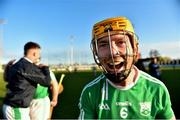17 November 2019; Ger Coady of St Mullins celebrates after the AIB Leinster GAA Hurling Senior Club Championship semi-final match between St Mullins and Rathdowney Errill at Netwatch Cullen Park in Carlow. Photo by Piaras Ó Mídheach/Sportsfile