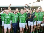 17 November 2019; St Mullins players celebrate after the AIB Leinster GAA Hurling Senior Club Championship semi-final match between St Mullins and Rathdowney Errill at Netwatch Cullen Park in Carlow. Photo by Piaras Ó Mídheach/Sportsfile