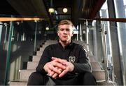 17 November 2019; Nathan Collins poses for a portrait prior to a Republic of Ireland U21's press conference at the FAI National Training Centre in Abbotstown, Dublin. Photo by Stephen McCarthy/Sportsfile