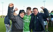 17 November 2019; Oisín Ryan of St Mullins celebrates with supporters after the AIB Leinster GAA Hurling Senior Club Championship semi-final match between St Mullins and Rathdowney Errill at Netwatch Cullen Park in Carlow. Photo by Piaras Ó Mídheach/Sportsfile