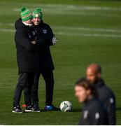 17 November 2019;Republic of Ireland manager Mick McCarthy with physiotherapist Tony McCarthy during a Republic of Ireland training session at the FAI National Training Centre in Abbotstown, Dublin. Photo by Stephen McCarthy/Sportsfile