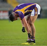 17 November 2019; A dejected Stephen McGullion of Derrygonnelly after the AIB Ulster GAA Football Senior Club Championship semi-final match between Kilcoo and Derrygonnelly at the Athletic Grounds in Armagh. Photo by Oliver McVeigh/Sportsfile