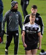 17 November 2019; A happy Ryan Johnston of Kilcoo after the AIB Ulster GAA Football Senior Club Championship semi-final match between Kilcoo and Derrygonnelly at the Athletic Grounds in Armagh. Photo by Oliver McVeigh/Sportsfile