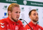 17 November 2019; Kasper Schmeichel during a Denmark press conference at the Aviva Stadium in Dublin. Photo by Stephen McCarthy/Sportsfile