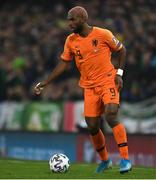 16 November 2019; Ryan Babel of Netherlands during the UEFA EURO2020 Qualifier - Group C match between Northern Ireland and Netherlands at the National Football Stadium at Windsor Park in Belfast. Photo by David Fitzgerald/Sportsfile