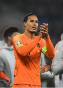 16 November 2019; Virgil van Dijk of Netherlands following the UEFA EURO2020 Qualifier - Group C match between Northern Ireland and Netherlands at the National Football Stadium at Windsor Park in Belfast. Photo by David Fitzgerald/Sportsfile