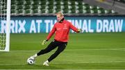 17 November 2019; Kasper Schmeichel during a Denmark training session at the Aviva Stadium in Dublin. Photo by Stephen McCarthy/Sportsfile