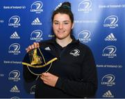 16 November 2019; Judy Bobbett during the Leinster Rugby Womens Cap and Jersey Presentation 2019 at the RDS in Dublin. Photo by Ramsey Cardy/Sportsfile