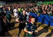 17 November 2019; Caolin Blade, right, and Jack Carty of Connacht ahead of the Heineken Champions Cup Pool 5 Round 1 match between Connacht and Montpellier at The Sportsground in Galway. Photo by Ramsey Cardy/Sportsfile