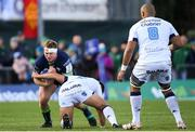 17 November 2019; Tom McCartney of Connacht is tackled by Youri Delhommel of Montpellier during the Heineken Champions Cup Pool 5 Round 1 match between Connacht and Montpellier at The Sportsground in Galway. Photo by Ramsey Cardy/Sportsfile