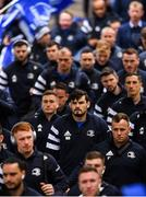 16 November 2019; Max Deegan and his Leinster team-mates arrive ahead of the Heineken Champions Cup Pool 1 Round 1 match between Leinster and Benetton at the RDS Arena in Dublin. Photo by Ramsey Cardy/Sportsfile