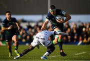 17 November 2019; Robin Copeland of Connacht is tackled by Gabriel Ngandebe of Montpellier during the Heineken Champions Cup Pool 5 Round 1 match between Connacht and Montpellier at The Sportsground in Galway. Photo by Ramsey Cardy/Sportsfile