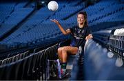 18 November 2019; Amy Gavin Mangan of Naomh Ciarán, with the Ladies All-Ireland Intermediate Club Trophy during LGFA All-Ireland Club Finals Captains Day at Croke Park in Dublin. Photo by Sam Barnes/Sportsfile