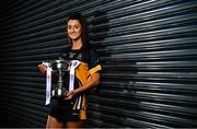 18 November 2019; Eimear Meaney of Mourneabbey with the Dolores Tyrrell Memorial Cup ahead of the Senior Ladies All-Ireland Club Final, during LGFA All-Ireland Club Finals Captains Day at Croke Park in Dublin. Photo by Sam Barnes/Sportsfile