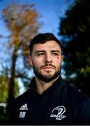 18 November 2019; Robbie Henshaw poses for a portrait after a Leinster Rugby press conference at Leinster Rugby HQ in UCD in Dublin. Photo by Brendan Moran/Sportsfile