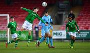 18 November 2019; Oliver O'Neill of Republic of Ireland in action against Bar Nuhi of Israel during the UEFA Under-17 European Championship Qualifier match between Republic of Ireland and Israel at Turner's Cross in Cork. Photo by Piaras Ó Mídheach/Sportsfile