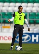 18 November 2019; Adam Idah during a Republic of Ireland U21's squad training session at Tallaght Stadium in Dublin. Photo by Harry Murphy/Sportsfile