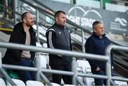 18 November 2019; St Patrick's Athletic manager Stephen O'Donnell, Waterford manager Alan Reynolds and former St Patrick's Athletic manager Harry Kenny during a Republic of Ireland U21's squad training session at Tallaght Stadium in Dublin. Photo by Harry Murphy/Sportsfile