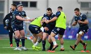 18 November 2019; Cian Healy is tackled during Leinster Rugby squad training at Energia Park in Donnybrook, Dublin. Photo by Brendan Moran/Sportsfile