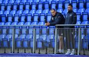 18 November 2019; Rhys Ruddock, left, and Dave Kearney look on during Leinster Rugby squad training at Energia Park in Donnybrook, Dublin. Photo by Brendan Moran/Sportsfile