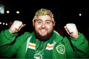 18 November 2019; Republic of Ireland supporter Peter Conroy from Donegal prior to the UEFA EURO2020 Qualifier match between Republic of Ireland and Denmark at the Aviva Stadium in Dublin. Photo by Harry Murphy/Sportsfile