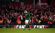 18 November 2019; James McClean of Republic of Ireland reacts during the UEFA EURO2020 Qualifier match between Republic of Ireland and Denmark at the Aviva Stadium in Dublin. Photo by Harry Murphy/Sportsfile