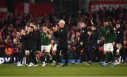 18 November 2019; Republic of Ireland manager Mick McCarthy applauds the fans with his team following the UEFA EURO2020 Qualifier match between Republic of Ireland and Denmark at the Aviva Stadium in Dublin. Photo by Harry Murphy/Sportsfile