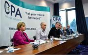 19 November 2019; Michéal Briody, CPA Chairman, speaking during the Club Players Association Press Conference at the Carlton Hotel in Blanchardstown, Dublin. Photo by Piaras Ó Mídheach/Sportsfile