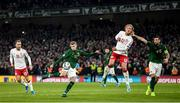 18 November 2019; James McClean of Republic of Ireland in action against Kasper Dolberg of Denmark during the UEFA EURO2020 Qualifier match between Republic of Ireland and Denmark at the Aviva Stadium in Dublin. Photo by Stephen McCarthy/Sportsfile