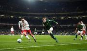 18 November 2019; James McClean of Republic of Ireland and Henrik Dalsgaard of Denmark during the UEFA EURO2020 Qualifier match between Republic of Ireland and Denmark at the Aviva Stadium in Dublin. Photo by Stephen McCarthy/Sportsfile