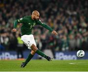 18 November 2019; David McGoldrick of Republic of Ireland during the UEFA EURO2020 Qualifier match between Republic of Ireland and Denmark at the Aviva Stadium in Dublin. Photo by Seb Daly/Sportsfile