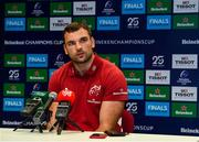 19 November 2019; Tadhg Beirne during a Munster Rugby press conference at the University of Limerick in Limerick. Photo by Diarmuid Greene/Sportsfile