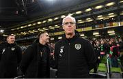 18 November 2019; Republic of Ireland manager Mick McCarthy during the UEFA EURO2020 Qualifier match between Republic of Ireland and Denmark at the Aviva Stadium in Dublin. Photo by Stephen McCarthy/Sportsfile