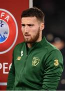 18 November 2019; Matt Doherty of Republic of Ireland prior to the UEFA EURO2020 Qualifier match between Republic of Ireland and Denmark at the Aviva Stadium in Dublin. Photo by Harry Murphy/Sportsfile