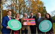 19 November 2019; Minister of State for Tourism and Sport, Brendan Griffin TD has launched the Sport Ireland Irish Sports Monitor 2019 Mid-Year Report at Merrion Square in Dublin. In attendance at the launch are, from left, Kieran O'Leary, Director Ipsos MRBI, Dr. Una May, Director of Participation and Ethics, Sport Ireland, John Treacy, CEO, Sport Ireland, Minister Brendan Griffin T.D., Minister of State for Tourism and Sport, Kieran Mulvey, Chairman, Sport Ireland and Elizabeth Loughren, Research Sport Ireland. Photo by Brendan Moran/Sportsfile