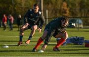 19 November 2019; James Cronin, right, and Diarmuid Barron during Munster Rugby squad training at the University of Limerick in Limerick. Photo by Diarmuid Greene/Sportsfile