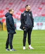 18 November 2019; Republic of Ireland head coach Colin O'Brien, left, with assistant coach David Meyler before the UEFA Under-17 European Championship Qualifier match between Republic of Ireland and Israel at Turner's Cross in Cork. Photo by Piaras Ó Mídheach/Sportsfile