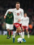 18 November 2019; Christian Eriksen of Denmark during the UEFA EURO2020 Qualifier match between Republic of Ireland and Denmark at the Aviva Stadium in Dublin. Photo by Eóin Noonan/Sportsfile