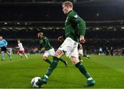 18 November 2019; James McClean of Republic of Ireland during the UEFA EURO2020 Qualifier match between Republic of Ireland and Denmark at the Aviva Stadium in Dublin. Photo by Eóin Noonan/Sportsfile