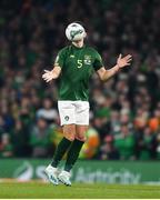 18 November 2019; John Egan of Republic of Ireland during the UEFA EURO2020 Qualifier match between Republic of Ireland and Denmark at the Aviva Stadium in Dublin. Photo by Eóin Noonan/Sportsfile