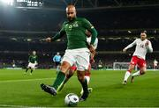 18 November 2019; David McGoldrick of Republic of Ireland during the UEFA EURO2020 Qualifier match between Republic of Ireland and Denmark at the Aviva Stadium in Dublin. Photo by Eóin Noonan/Sportsfile