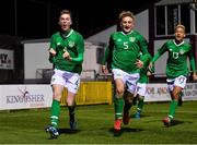 19 November 2019; Cathal Heffernan of Republic of Ireland, left, celebrates after scoring his side's second goal during the U15 International Friendly match between Republic of Ireland and Poland at Eamonn Deacy Park in Galway. Photo by Seb Daly/Sportsfile