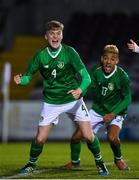 19 November 2019; Cathal Heffernan of Republic of Ireland celebrates after scoring his side's second goal during the U15 International Friendly match between Republic of Ireland and Poland at Eamonn Deacy Park in Galway. Photo by Seb Daly/Sportsfile