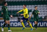 19 November 2019; Viktor Gyokeres of Sweden celebrates after scoring his side's first goal during the UEFA European U21 Championship Qualifier match between Republic of Ireland and Sweden at Tallaght Stadium in Tallaght, Dublin. Photo by Harry Murphy/Sportsfile