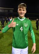 19 November 2019; Cathal Heffernan of Republic of Ireland following his side's victory during the U15 International Friendly match between Republic of Ireland and Poland at Eamonn Deacy Park in Galway. Photo by Seb Daly/Sportsfile