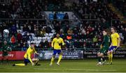19 November 2019; Lee O'Connor of Republic of Ireland shoots to score his side's first goal during the UEFA European U21 Championship Qualifier match between Republic of Ireland and Sweden at Tallaght Stadium in Tallaght, Dublin. Photo by Harry Murphy/Sportsfile