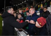 19 November 2019; Troy Parrott of Republic of Ireland with supporters after the UEFA European U21 Championship Qualifier match between Republic of Ireland and Sweden at Tallaght Stadium in Tallaght, Dublin. Photo by Stephen McCarthy/Sportsfile